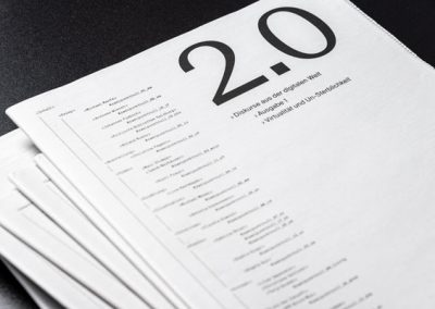 2.0 – Diskurse aus der digitalen Welt